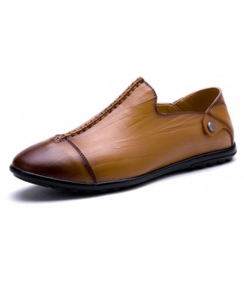 British Style Slip-on Seam Upper Men Causal Loafers