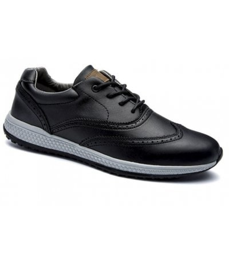 Men Leather Shoes Outdoor Sport Big Size Anti-Skid Tourism Sneakers
