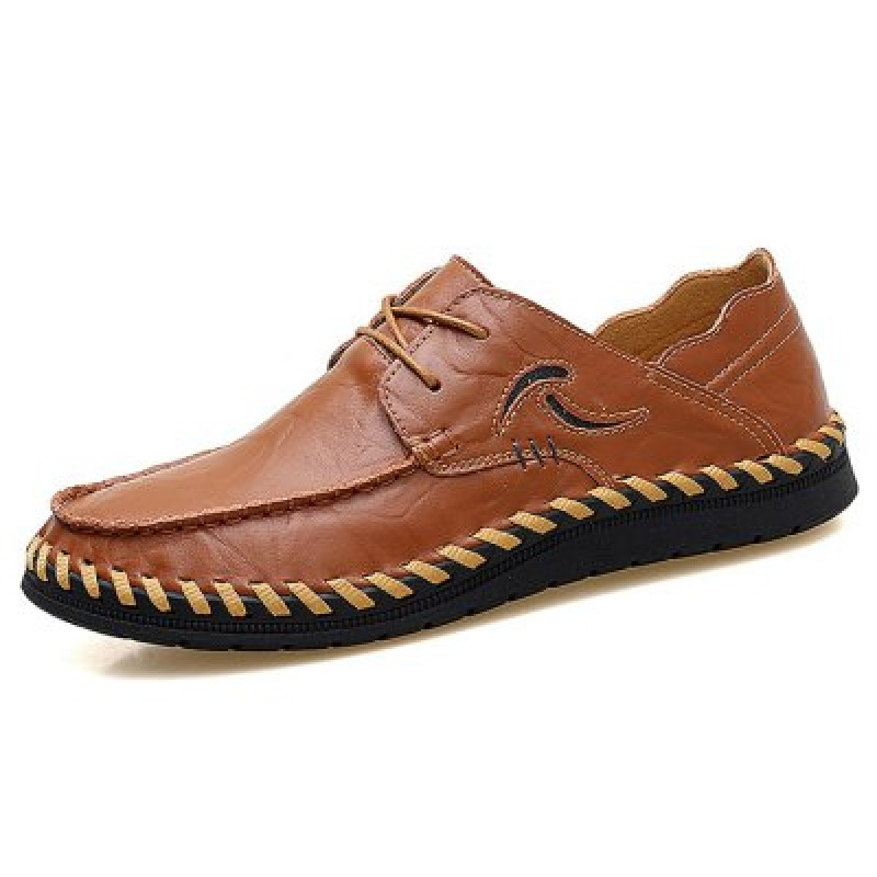 Stylish Breathable Handcrafted Anti-slip Leather Casual Shoes