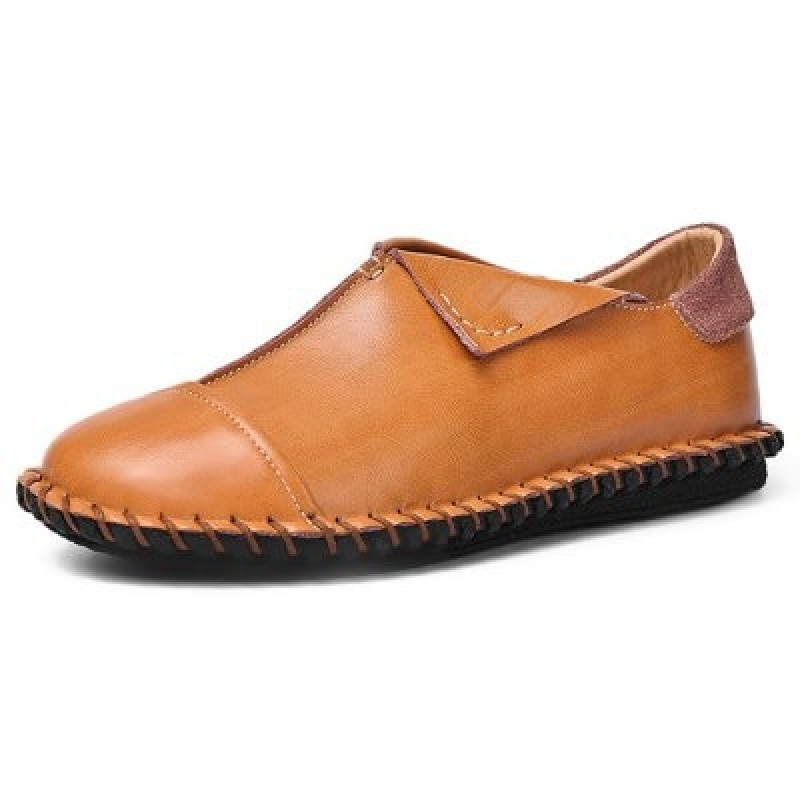 Men Trendy Leather Comfortable Casual Flat Shoes