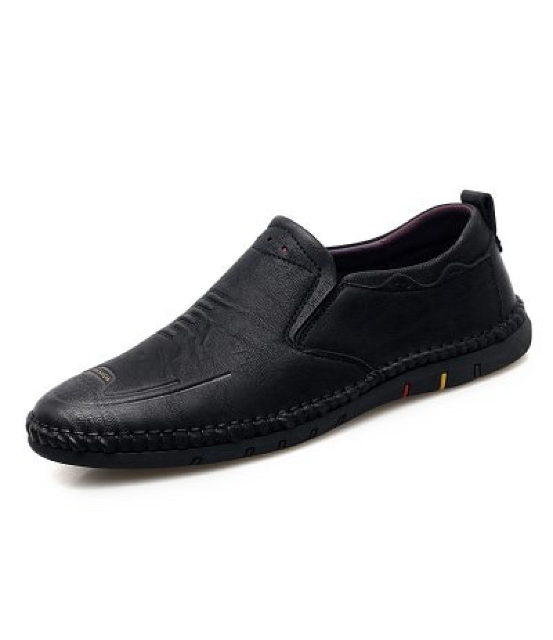 Casual Leather Solid Color Low-top Shoes for Man
