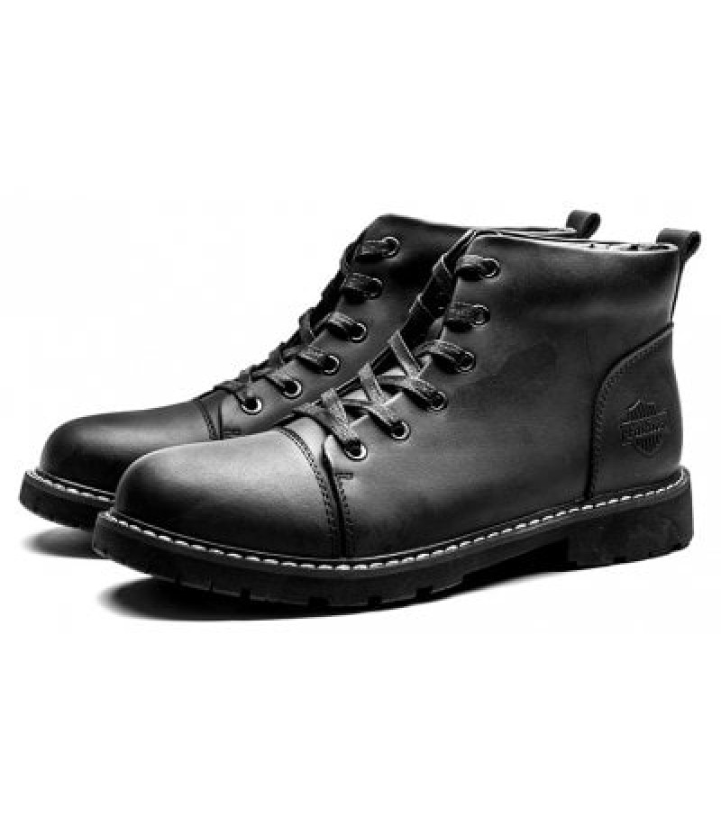 British Style Classic Wax Male Martin Boots