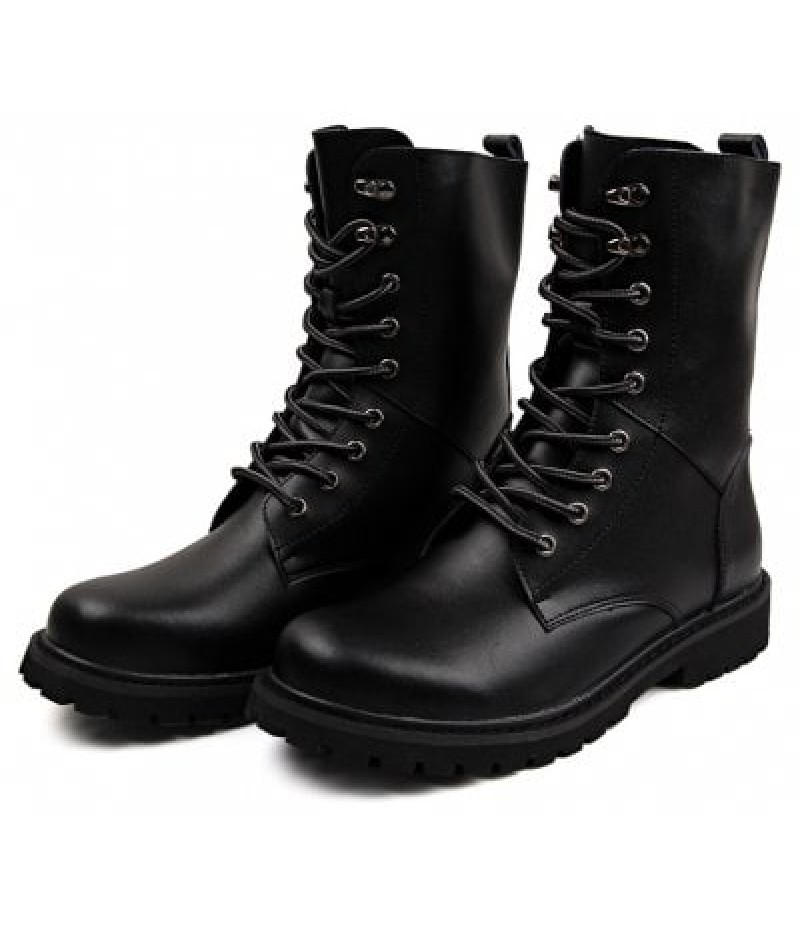 Men Classic Stylish Leather High Marten Boots