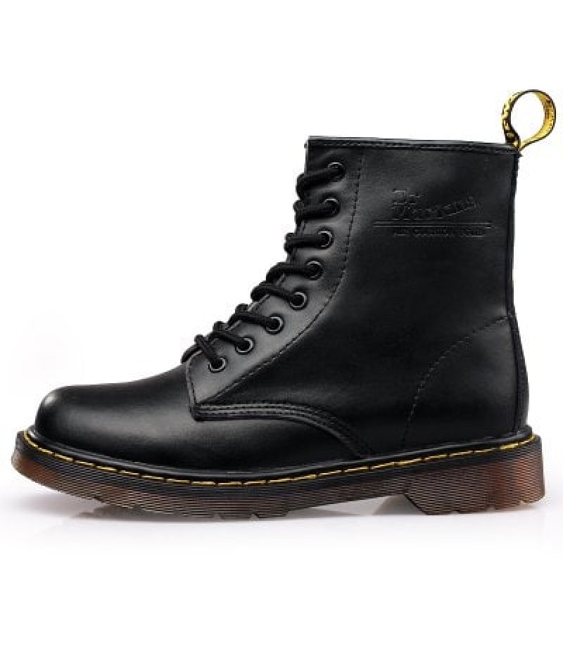 Men Stylish Soft Lace-up Leather Ankle Boots