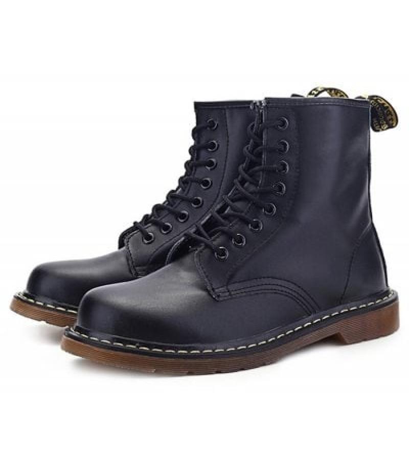 Men Stylish Genuine Leather Martin Boots