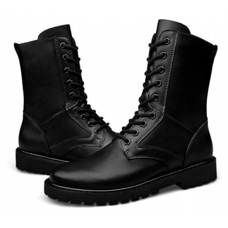 Men's Versatile Soft Military High-top Boots