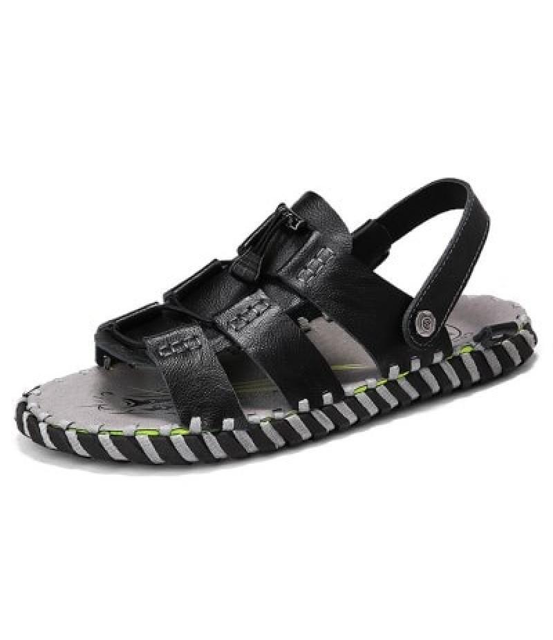 Men Stylish Street Dual-use Leather Sandals