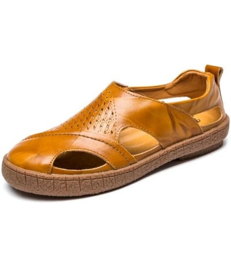 Men Stylish Soft Summer Anti-slip Hollow-out Sandals